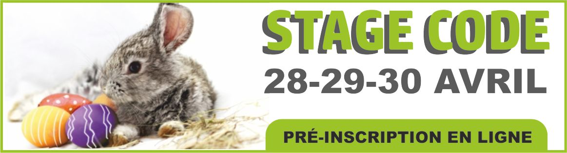 Stage Code Paques